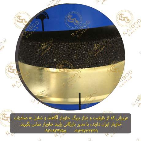 صادرات خاویار بلوگا به مسقط عمان